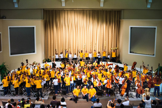 AMP Orchestra celebrates with Metropolitan Youth Symphony Orchestras of Atlanta.