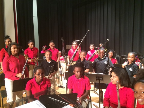 AMP Wind Ensemble with J.C. Young Middle School Band.