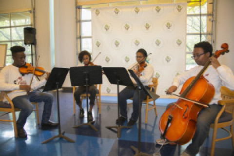 AMP Quartet performs for Intelligent Initiative