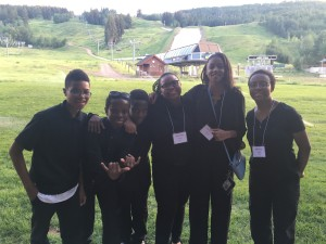 AMP students performing in the Take a Stand Festival pose together in Aspen, Colorado.
