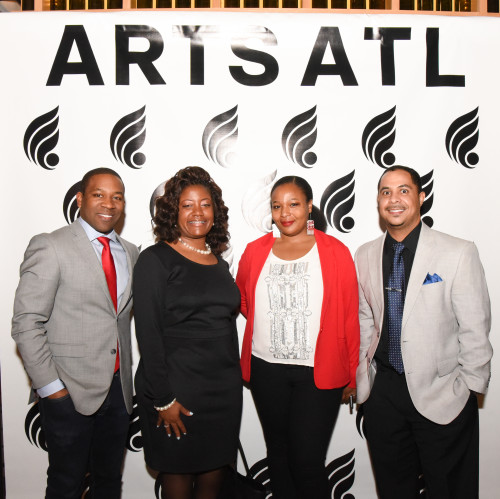 Atlanta Music Project staff attended the Luminary Arts Awards. L to R: Dantes Rameau, co-founder & executive director; LaTashia Bridges, String Teaching Artist; Nadirah Watson, Grant Manager & Writer; Averil Taylor, Manager of Primary Orchestras.